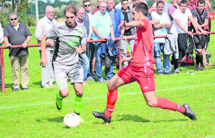 Bo Drews rettet der Fortuna einen Punkt im Rees-Derby