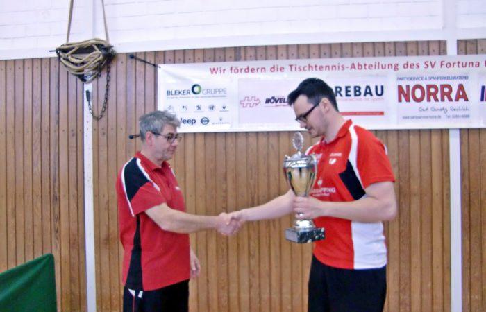 TT-Vereinmeisterschaft: Vievering holt sich Pokal zurück