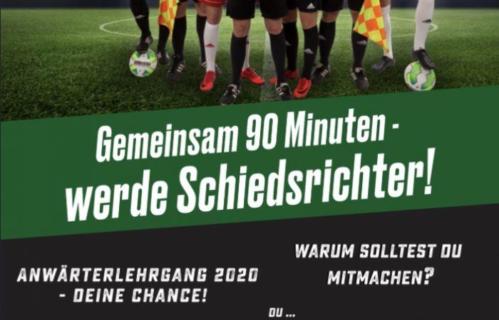 Neuer Anwärterlehrgang für Schiedsrichter im Februar 2020